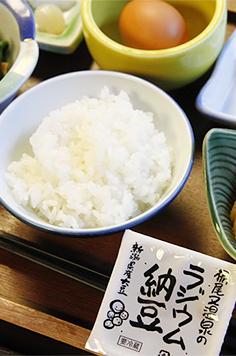 栃尾又温泉のラジウム納豆ごはん